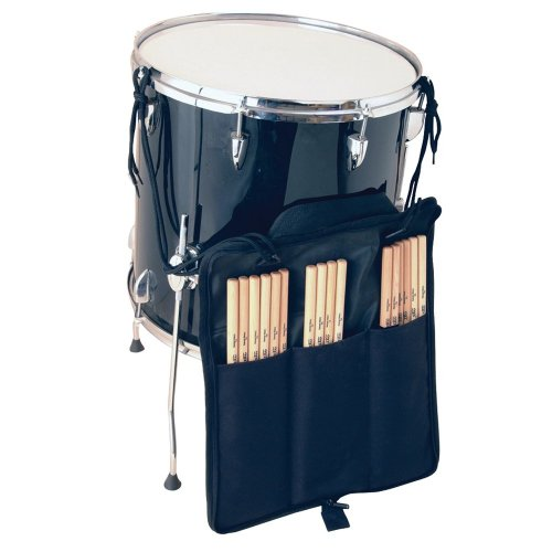 On-Stage DSB6700 Three-Pocket Drum Stick Bag, Black