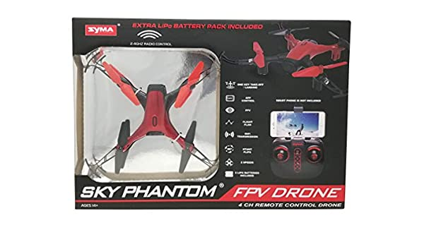 Syma Sky Phantom FPV Drone D1650WH 2 Speeds, App, 4 CH Remote ...