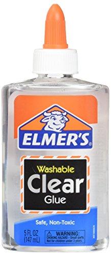 Elmer's E305 Washable School Glue, 5 oz Bottle, 2 Pack, Clear