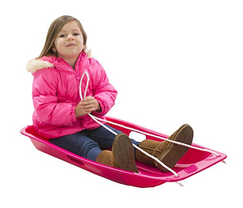 Snow Sled Kids Winter Toboggan Sled, 33-inch, Pink by Lucky Bums (Image #4)