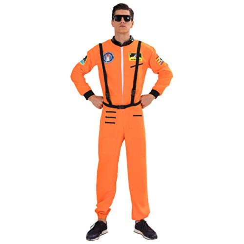 EraSpooky Men's Astronaut Costume Spaceman Suit Halloween Adult Costumes for Men - Funny Cosplay Party]()