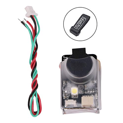 (JHE42B Finder RC Quadcopter 110dB 5V Loud Buzzer Beeper Tracker Alert LED Buzzer with Lipo Battery Strap Compatible with All BF/CF Flight Controller FPV Racing Drone New)