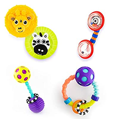 Sassy Infant Gift Set 0+ Months - 5 Piece Set with Different Rattles and Teethers : Baby