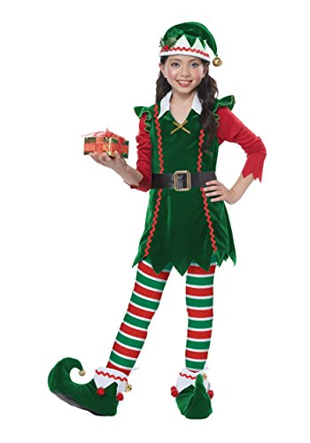 Festive Elf - Child Costume Green/Red -