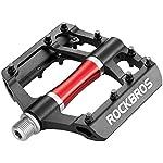ROCKBROS-Pedali-Bici-MTB-Pedali-per-Bicicletta-in-Alluminio-916-Pollici-con-Cuscinetto-Sigillato-Superficie-Larghe-Antiscivolo