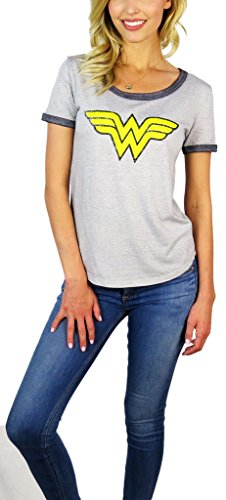 Wonder+Woman+Shirts Products : DC Comics Womens Wonder Woman Burnout Ringer Tee