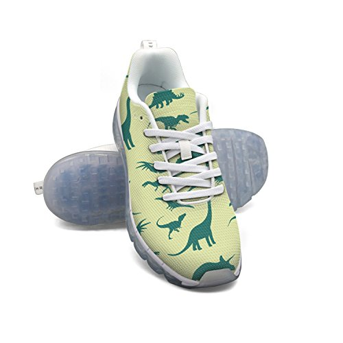 cheap sale free shipping FAAERD Dinosaurs Pattern Men's Breathable Mesh Air Cushion Casual Fashion Sneakers Athletic Gym Walking Sports Running Shoes buy cheap wholesale price 2014 unisex online cheap marketable qfIS9M