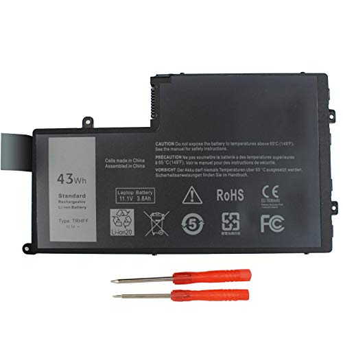 - Gomarty TRHFF Notebook Battery for DELL Inspiron 5447 5545 5547 5548 N5447 N5547 15-5000 Series i5547-3750sLV Latitude 15 3550 DL011307-PRR13G01 1V2F6 01v2f6 0PD19 P39F 11.1V 43WH