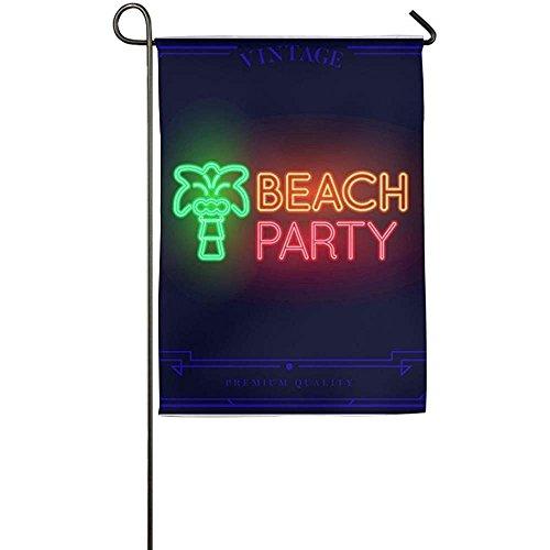 Garden Flag - Custom Beach Bar Neon Light Yard Flag 12 X 18