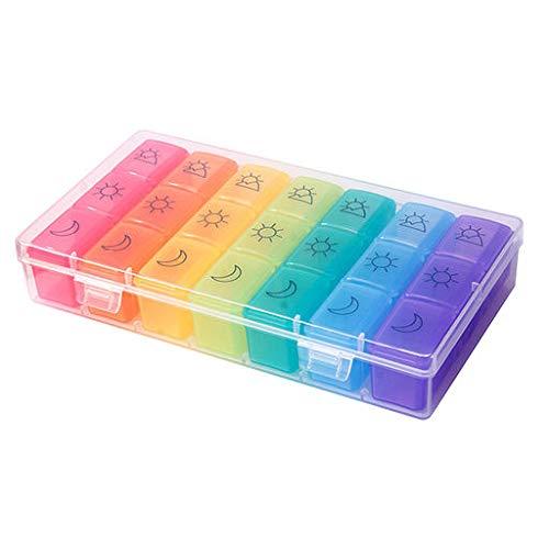 2019 Best Gift!!! Cathy Clara Pill Box 21 Day Medicine Tablet Dispenser Organizer Weekly Storage Case Extra Large (Best New Vape Mod 2019)