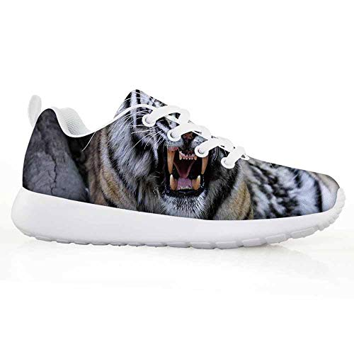 Price comparison product image African Children Running Shoes Tiger Face with Roaring Wildlife Safari Savannah Animal Nature Zoo Photo P