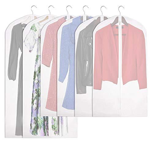 Garment Buddy Garment Bags (Set of 6) | 4 x 42 and 2 x 54 Clear Garment Bag | Garment Bags for Storage | Great Travel Garment Bag | Clothing Storage Bags