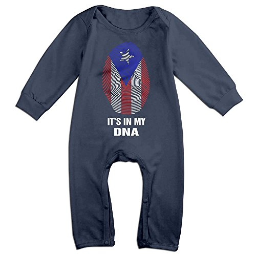 Price comparison product image Puerto Rico Flag-It's In My DNA Funny Toddler Baby Long Sleeve Babys' Jumpsuit Rompers Bodysuit