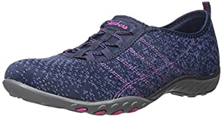 Skechers Sport Women's Breathe Easy Fortune Fashion Sneaker,Navy/Blue Mesh/Fuchsia Trim,8 M US (B01B64AJM2) | Amazon price tracker / tracking, Amazon price history charts, Amazon price watches, Amazon price drop alerts