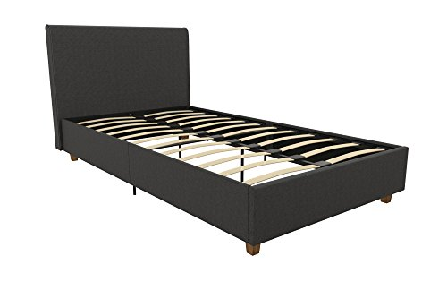 DHP Zane Modern Linen Upholstered Platform Bed, Includes Hea