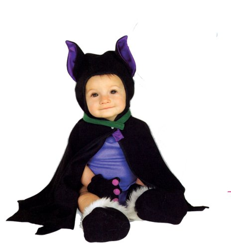 Rubie's Costume Co LIL BAT CAPED COSTUME 3-12 MOS,Black,Infant
