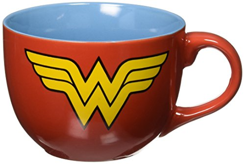Silver Buffalo WW0224 DC Comics Wonder Woman Uniform Soup Mug, 24-Ounces