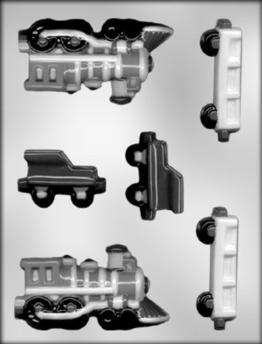 CK Products 4-1/2-Inch 3-D Train Engine and Railcars Chocolate Mold - Iii City Engine