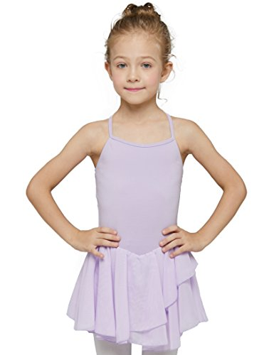 MdnMd Camisole Skirted Leotard For Girls (Tag 120) Age 4-6, Lilac Purple