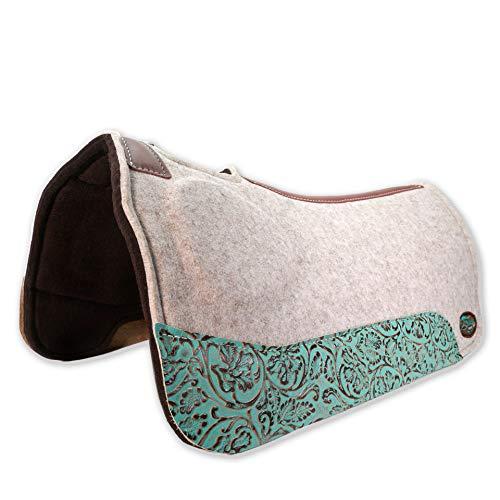 Southwestern Equine OrthoRide Elite Premium Tan Topper and Chocolate Wool Bottom 1