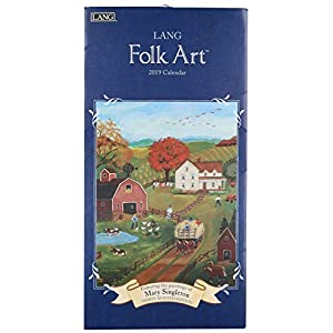 The Lang Companies 19991079119 Lang Folk Art 2019 Vertical Calendar