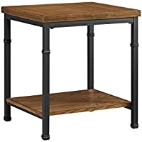 Linon Austin Rectangular End Table in Black