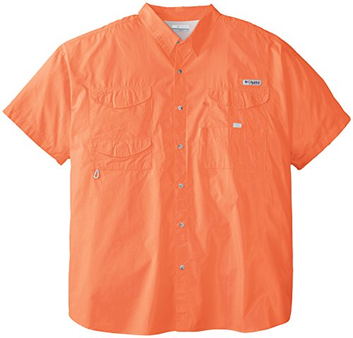 Columbia Men's Bonehead Short Sleeve Shirt, Bright Peach, 4X Tall