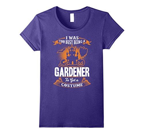 Gardener Costume (Womens Gardener Halloween Shirt Funny Costume Tee XL Purple)