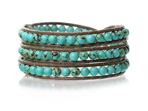 turquoise-wrap-bracelet-genuine-brown-leather-hand-knotted-multilayer-4mm-round-beads