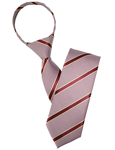 H2H Mens Comfortable Zipper Stripe Patterned Neck Tie GRAYWINE FREE (KMANT069)