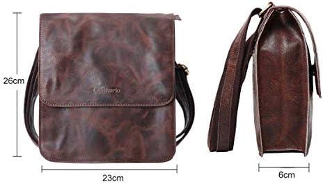 Bandolera pequeña de marca de lujo para hombre, bandoleras de piel para hombre, hermoso bolso de negocios tipo bandolera Vintage, bolsos de mano