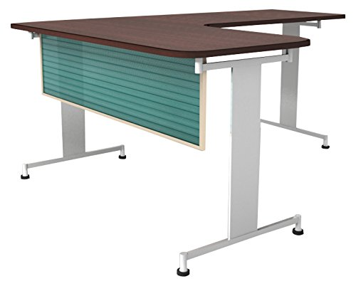 Obex 24X48P-L-G-MP 24'' Polycarbonate Desk and Table Mounted Modesty Panel, Green, 24'' x 48''