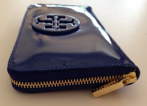 Tory-Burch-Stacked-Logo-Zip-Continental-Clutch-Wallet-Jelly-Blue-Patent-Leather