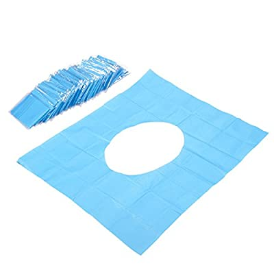 50 Count Disposable Toilet Seat Covers - Waterproof Paper Toilet Covers - Disposable Toilet Covers, Individually Wrapped