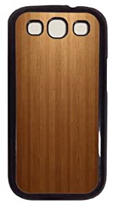 Light Wood PC Case Cover For Samsung Galaxy S3 SIII I9300 Black