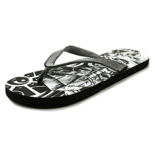 Maui & Sons Mens Graphic Slide Flip-Flops Black-white o3Qd8Hl