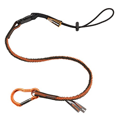 Squids 3102F(x) Shock Absorbing Tool Lanyard with Detachable End, Gray (Lanyard Tool)