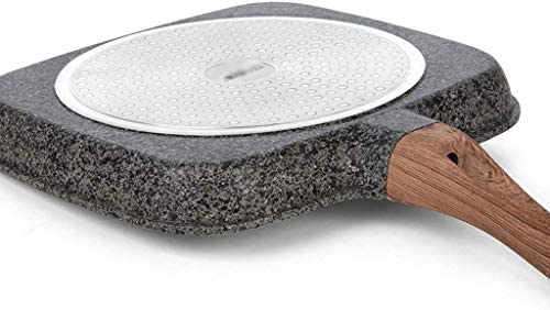 DXDUI Thermo Antiadhésives Maifanshi Pas Fumées Frying Pan, Petit-Déjeuner, Cuisinière Au Gaz, Peut-Il Utiliser Pot en Verre Couvercle Batterie De Cuisine
