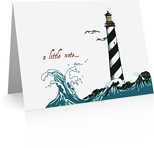 Lighthouse Foldover Note Cards (24 Cards and Envelopes) Lighthouse Cards
