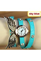 2014 new style fashion ladies watches wing rhinestone gold plated bracelet JEW SJA0846535262CO TYPE 6