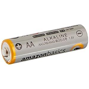 AmazonBasics AA 1.5 Volt Performance Alkaline Batteries – Pack of 48