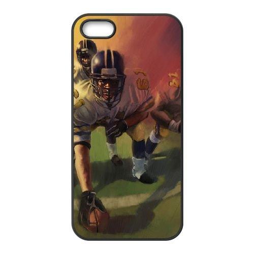 Football coque iPhone 5 5S cellulaire cas coque de téléphone cas téléphone cellulaire noir couvercle EOKXLLNCD23729