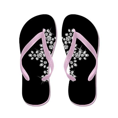 CafePress Diamond Snowflake - Flip Flops, Funny Thong Sandals, Beach Sandals
