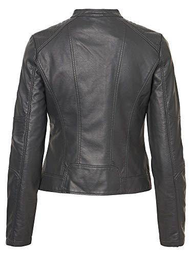 Ip Leather Moda Faux Giacca Antracite Jacket Favo Vmeurope Donna Vero w0qIxdYq