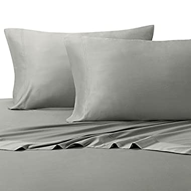 Queen Gray Silky Soft bed sheets 100% Rayon from Bamboo Sheet Set