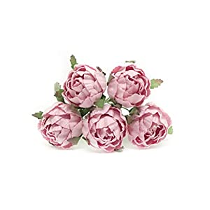 "1"" Savvi Jewels Pink Paper Flower Peonies Mulberry Paper Flowers Pink Paper Peonies DIY Wedding DIY Paper Bouquet Miniature Flowers Wedding Table Flowers Wedding Table Decor, 12 Pieces 62"
