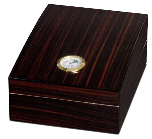 $63.11 antique humidor Visol Products VHUD88 Ertik 75-Cigar Humidor, Golden Ebony Finish 2019