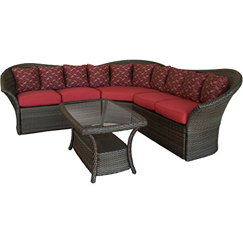 Hanover 4 piece versa outdoor wicker sectional lounge set - Naturewood furniture for both indoor and outdoor sitting ...