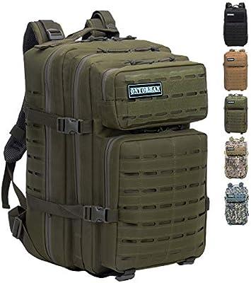 onyorhan Mochila Táctica Militar Molle Tactical Army Backpack Camuflaje Assault Pack Corte Laser - 40L (Verde): Amazon.es: Deportes y aire libre