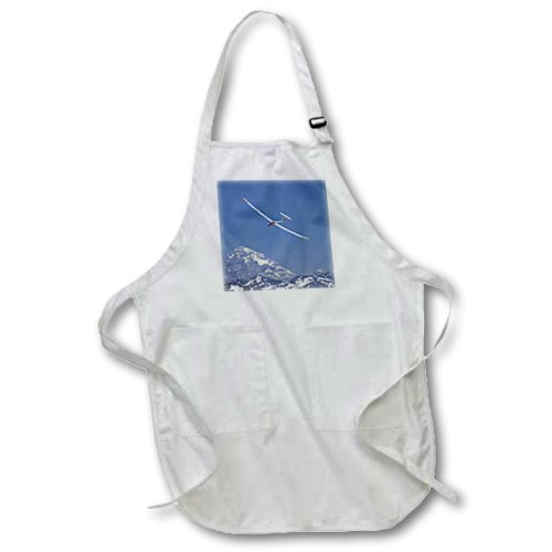 3dRose apr/_85859/_4 Airplane in FAI World Sailplane Grand Prix Full Length Apron with Pockets Black Chile David Wall 22 by 30-Inch